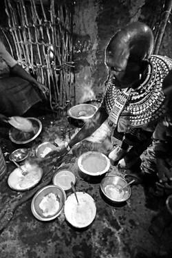 Samburu Woman Serving Food