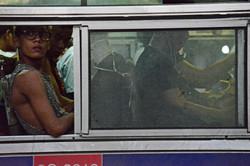 Boy on Bus, Pyay Lan, Yangon