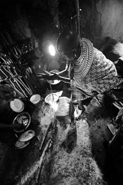Samburu Woman Cooking 2