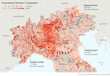 L'ECONOMIST:  vicina all'immunità l'area di Bergamo che è ha avuto più decessi per coronavirus