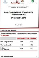 Economia Lombarda II trimestre 2015 - dati moderatamente positivi