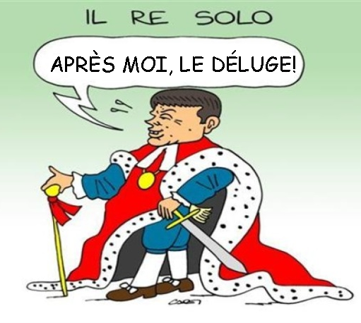 renzi re sole