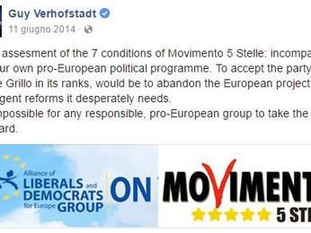 Bruxelles. M5S e Liberali UE: matrimonio non s'ha da fare
