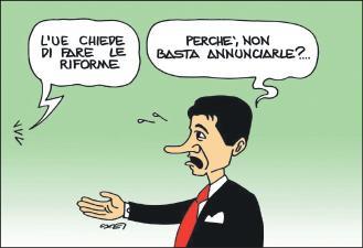 Conte non fa le riforme