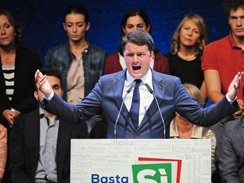 Referendum costituzionale:                  l'aspra battaglia  di Renzi e del PD per migliorare
