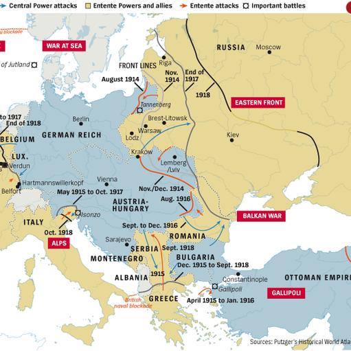mappa 1914-1918