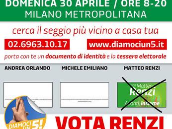 DOVE VOTARE per le PRIMARIE di domani nei Municipi di Milano e Area Metropolitana