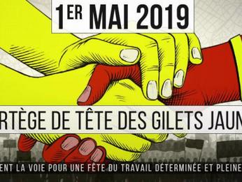 1 Maggio in Francia: gilets jaunes, sindacalisti rossi, ecologisti sfilano assieme, ma non si amano.
