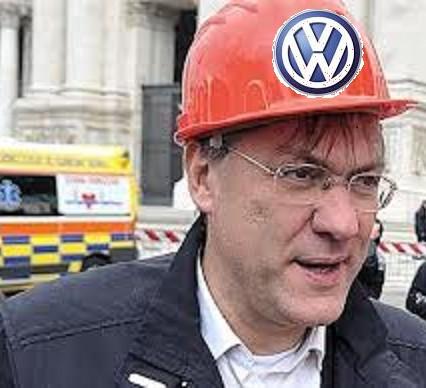 landini con il casco VW