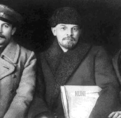 StalinLeninTrotskj1917