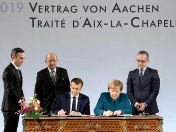 Mekel e Macron ad Aquisgrana: il nuovo patto di dominazione franco-tedesca...?