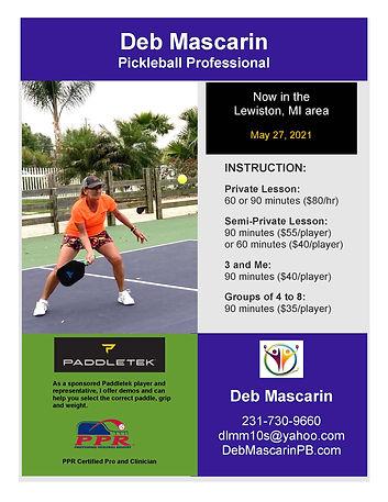 Deb Mascarin, Pickleball Pro, Lewiston.j