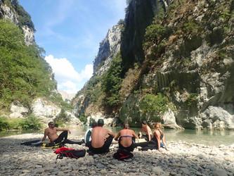 Pique nique dans le canyon du Verdon