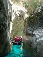 découverte du canyon de l'artuby en packraft