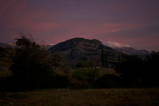 coucher soleil en patagonie
