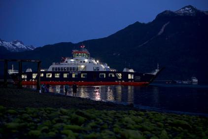 ferry en Patagonie