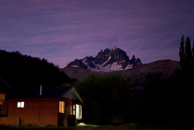Au pied des montagnes en Patagonie