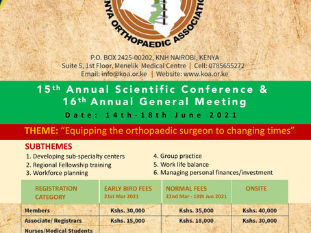 15thAnnual Scientific Conference & 16thAnnual General Meeting