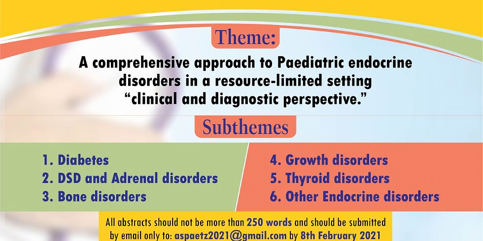12th Annual Confrence of The African Society for Paediatric and Adolescent Endocrinology