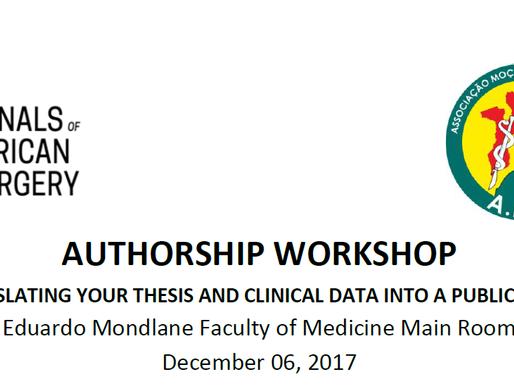 AAS Authorship Workshop, Maputo, Mozambique