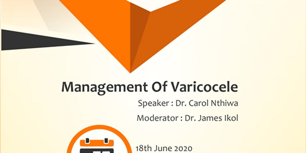 MANAGEMENT OF VARICOCELE