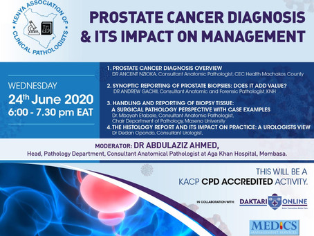 PROSTATE CANCER DIAGNOSIS AND IT'S IMPACT ON MANAGEMENT / WEBMINAR