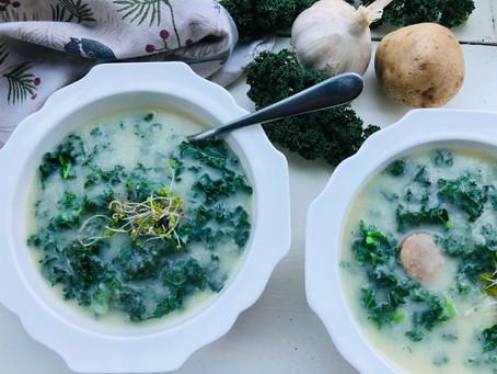 Kale Cauliflower Potato Soup
