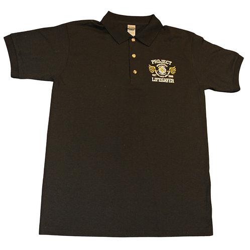 PLI Black Polo Shirt