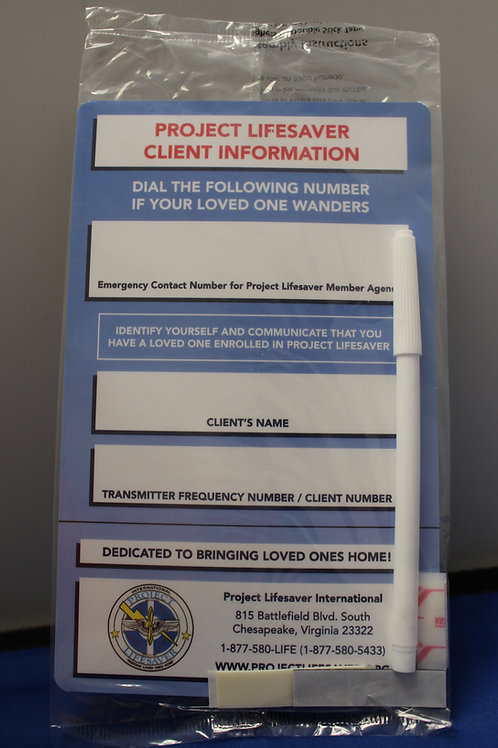Client Info Refrigerator Magnet
