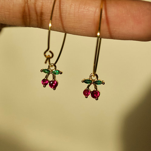 Cherry Loop Earrings