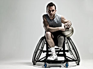 Giocatore di basket su Wheenchair