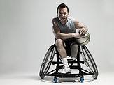 Basketball-Spieler auf Wheenchair