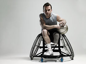 Basketball Player on Wheenchair