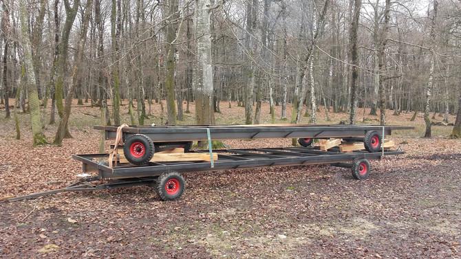 Les  châssis de 2 roulottes sont arrivés !