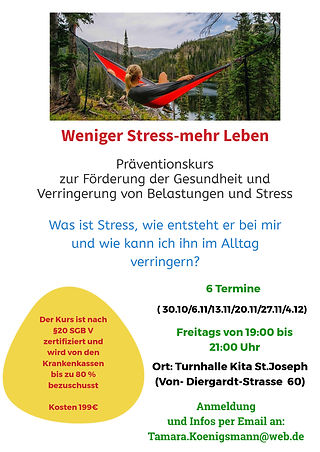 Stressmanagement Kurs - Made with Design