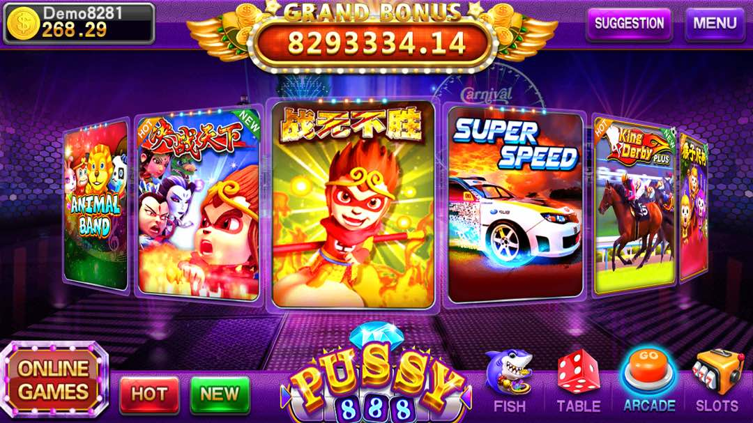 Pussy888 Mini Games