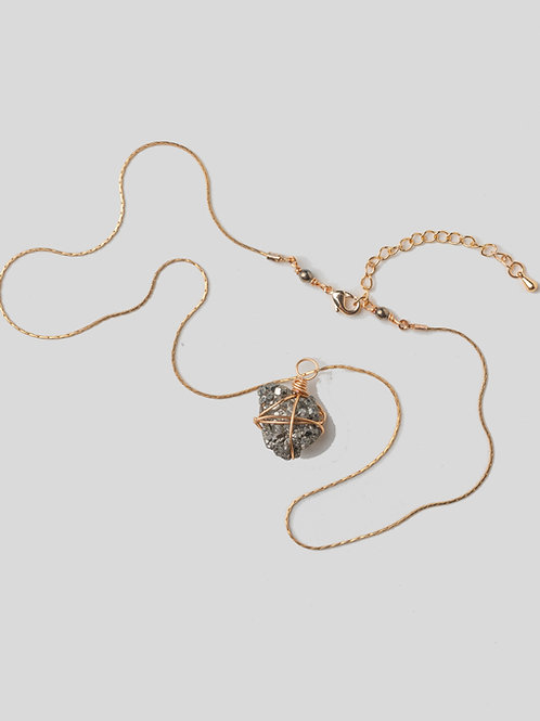 Pyrite Asteroid Necklace