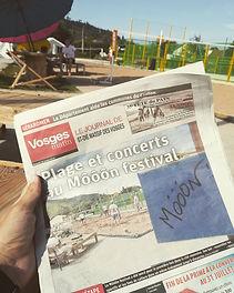 "Une du journal ""Vosges Matin"" - samedi 20 juillet 2019"