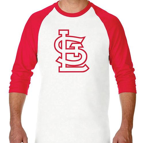 """PLAYERA RANGLAN 3/4"""" MLB CARDINALS DE ST. LOUIS BIG LOGO"""