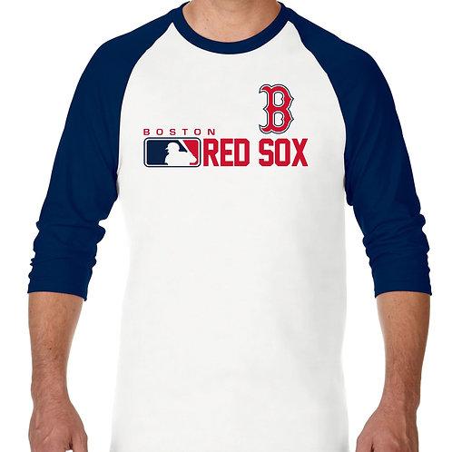"PLAYERA RANGLAN 3/4"" MLB RED SOX DE BOSTON DISTINCTION"