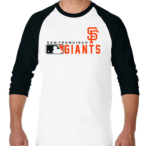 "PLAYERA RANGLAN 3/4"" MLB GIANTS DE SAN FRANCISCO DISTINCTION"