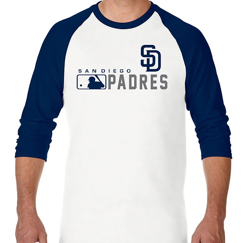 "PLAYERA RANGLAN 3/4"" MLB PADRES DE SAN DIEGO DISTINCTION"
