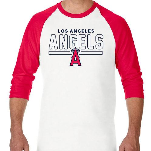 "PLAYERA RANGLAN 3/4"" MLB ANGELS DE LOS ANGELES FRONTLINE"