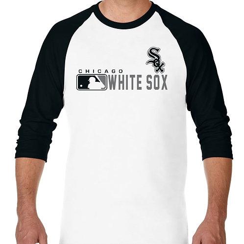 "PLAYERA RANGLAN 3/4"" MLB WHITE SOX DE CHICAGO DISTINCTION"