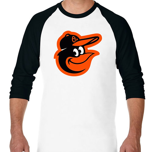 "PLAYERA RANGLAN 3/4"" MLB ORIOLS BALTIMORE BIG LOGO"