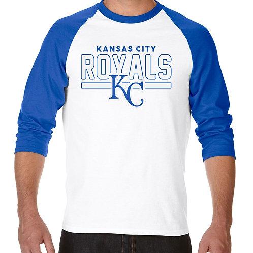 "PLAYERA RANGLAN 3/4"" MLB ROYALS DE KANSAS CITY FRONTLINE"