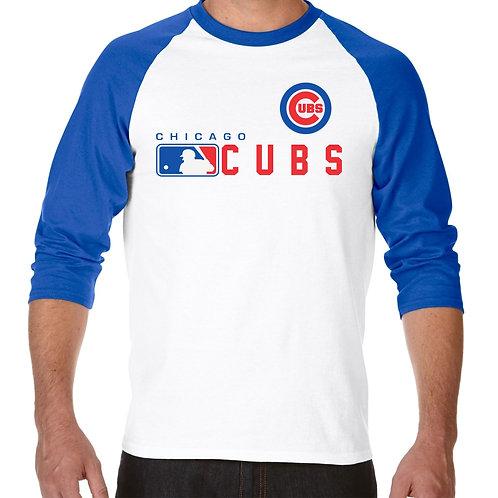 """PLAYERA RANGLAN 3/4"""" MLB CUBS DE CHICAGO DISTINCTION"""