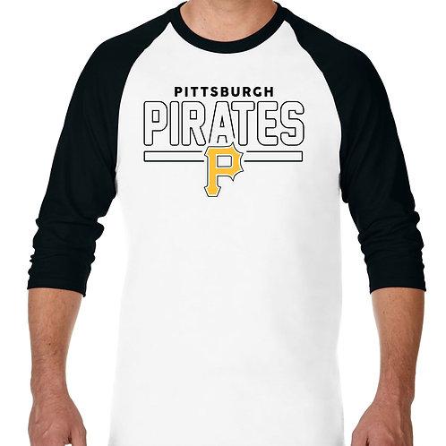 "PLAYERA RANGLAN 3/4"" MLB PIRATES DE PITTSBURGH FRONTLINE"
