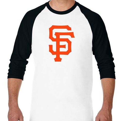 "PLAYERA RANGLAN 3/4"" MLB GIANTS DE SAN FRANCISCO BIG LOGO"