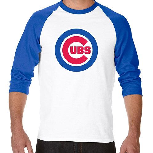 "PLAYERA RANGLAN 3/4"" MLB CUBS DE CHICAGO BIG LOGO"